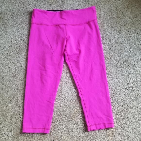 d56682098f5e1 lululemon athletica Pants | Hot Pink Lululemon Crops | Poshmark
